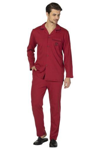 DS DAMAT - Ds Damat Erkek Pijama Takımı Uzun Kol Boydan Düğmeli Comfort (1)