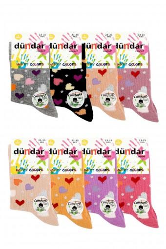 Dündar Comfort Kız Çocuk Soket Çorap Lyrca Cotton (12 adet)