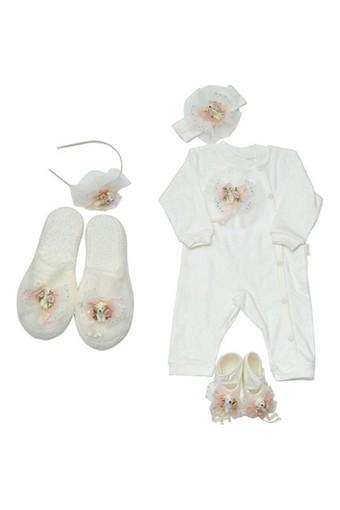 EDA BEBE - Eda Baby Anne Kız Lohusa Terlik Set 5 Parça (1)