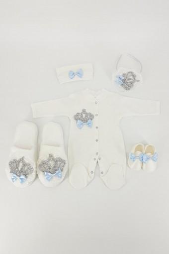 Eda Baby Anne Kız Lohusa Terlik Set 5 Parça - Thumbnail