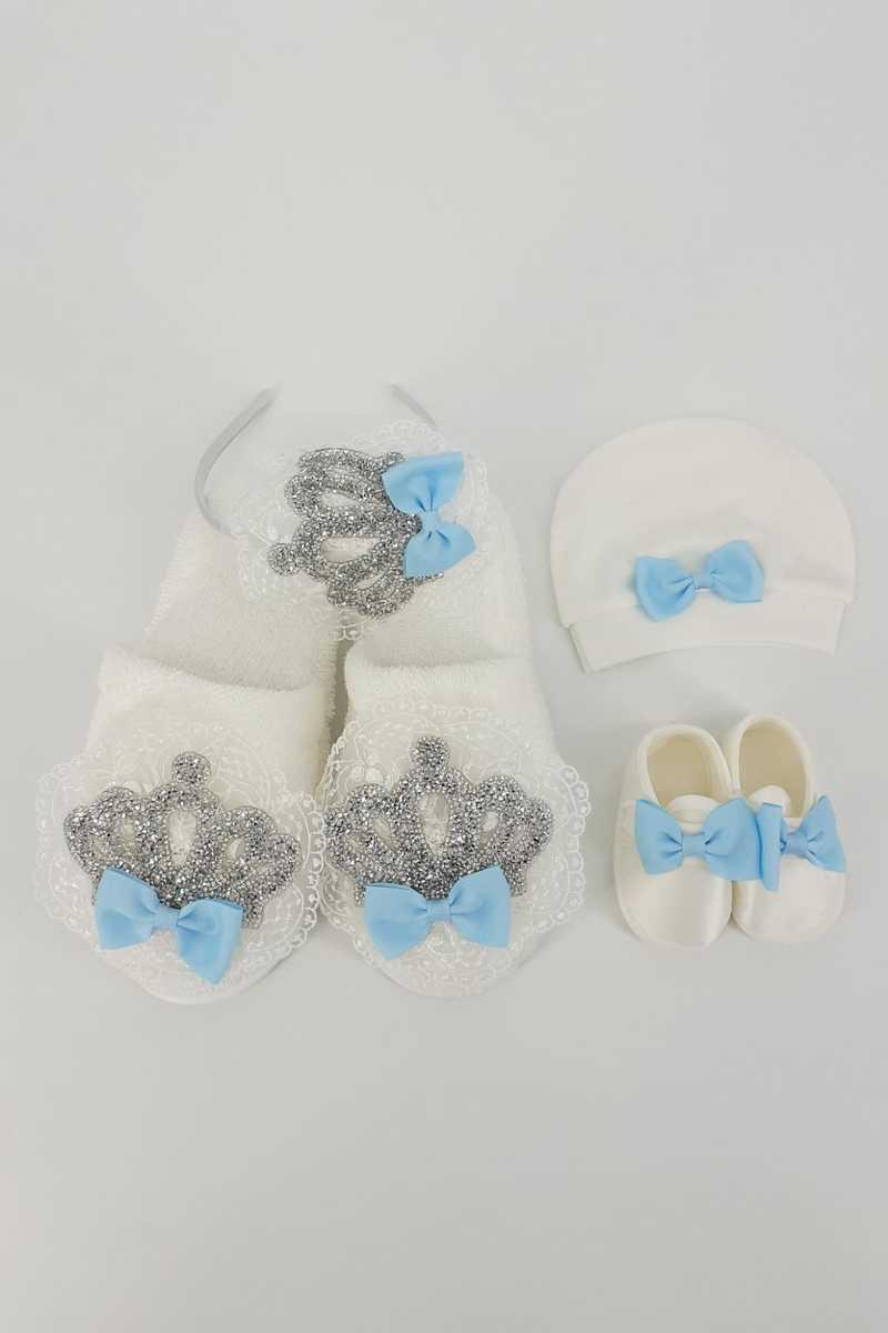 Eda Bebe Unisex Bebek Anne-Bebek Lohusa Terlik Set - Thumbnail