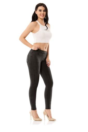 ENİMON - Enimon Kadın Tayt Diagonal Pantolon (1)