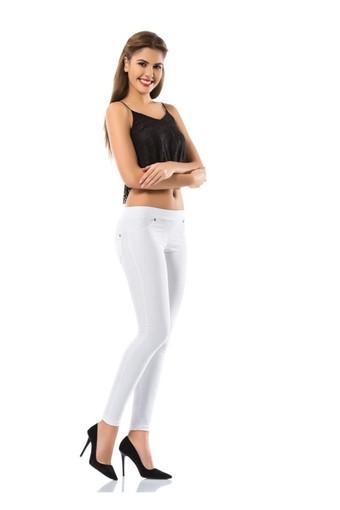 ENİMON - Enimon Kadın Tek Alt Pantolon Denim