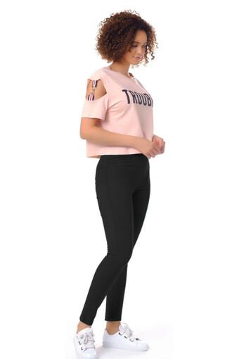 ENİMON - Enimon Kadın Tek Alt Pantolon Denim (1)