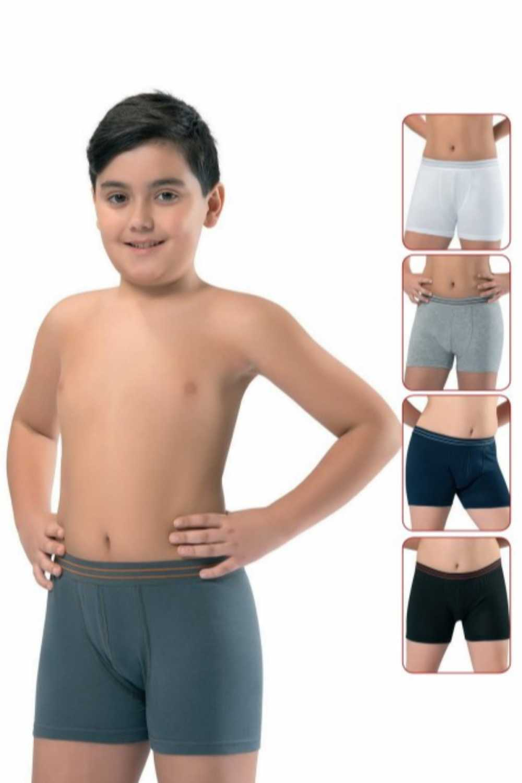 Erdem Erkek Çocuk Boxer Garson Boy 3 lü Beli Çizgili ERDEM3363 - Thumbnail