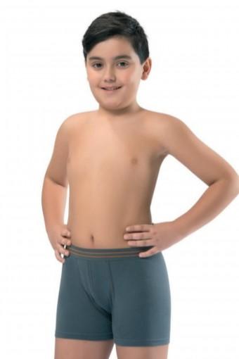Erdem Erkek Çocuk Boxer Garson Boy 3 lü Beli Çizgili - Thumbnail