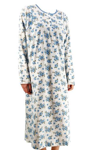 ERDEM - Erdem Kadın Gecelik Uzun Kol Çiçek Desenli