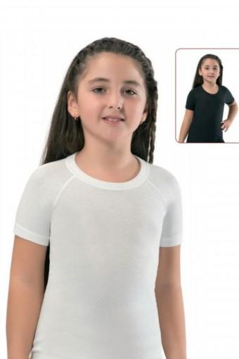 Erdem Unisex Çocuk Kısa Kollu Atlet Termal Reglan - Thumbnail
