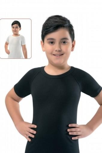 ERDEM - Erdem Unisex Çocuk Kısa Kollu Atlet Termal Reglan (1)