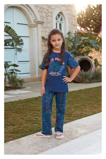 FEYZA - Feyza Kız Çocuk 2'li Pijama Takımı Kısa Kol (FEYZA3218) (1)