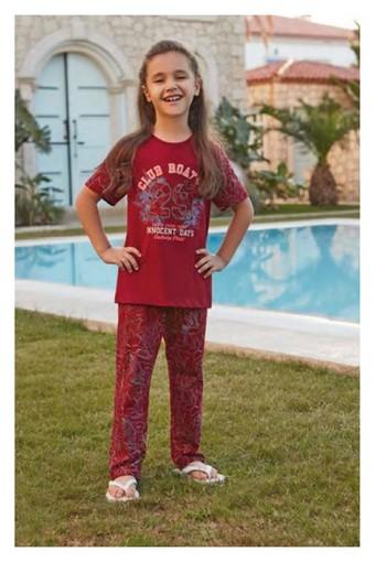 Feyza Kız Çocuk Pijama Takımı Kısa Kol (FEYZA3218) - Thumbnail