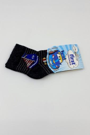 GÜLEÇLER-FIRST - First Erkek Bebek Soket Çorap Yelken Desenli Yıkamalı (12 adet)