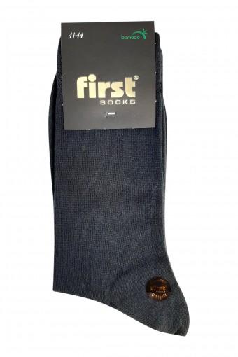 First Erkek Soket Çorap Bambu Dikişsiz Desen:01 (6 adet) - Thumbnail