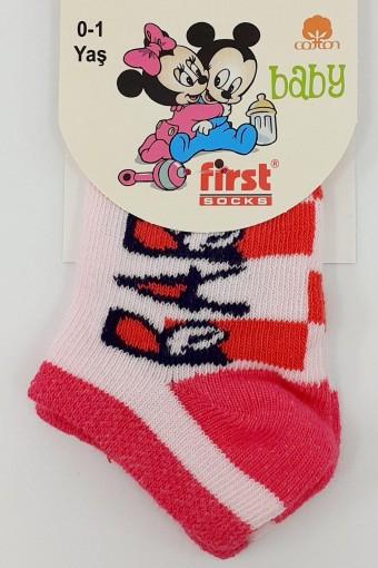 First Kız Bebek Patik Likralı (12 adet) - Thumbnail