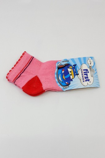 First Kız Bebek Soket Çorap Desenli Yıkamalı (12 adet) - Thumbnail
