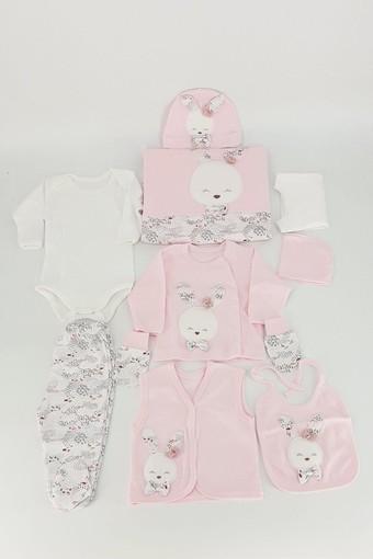 GAYE - Gaye Kız Bebek 10'lu Zıbın Set Hop Tavşanlı