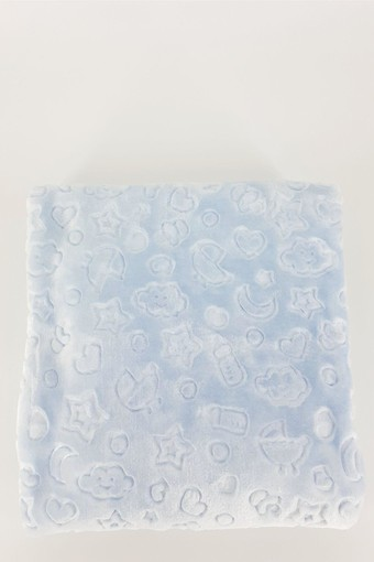 İLKCEMRE - Golden Star Baby Unisex Bebek Battaniye Kabartmalı 100X120 (1)