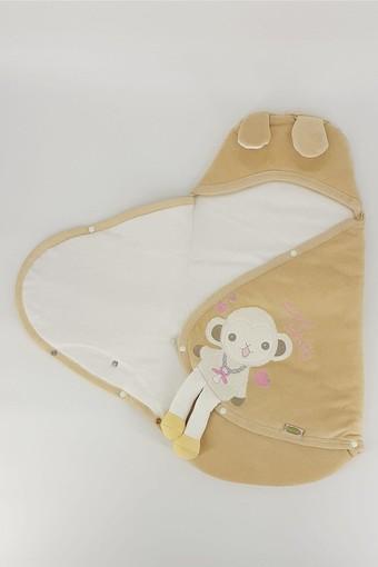 GÜLER ÇEYİZ - Güler Unisex Bebek Kundak Battaniye Kadife Tavşan Desenli (1)