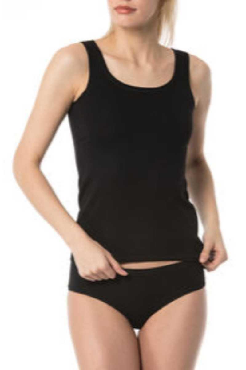 İmer Kadın Atlet Modal Kıvırma Yakalı IMER1233 - Thumbnail