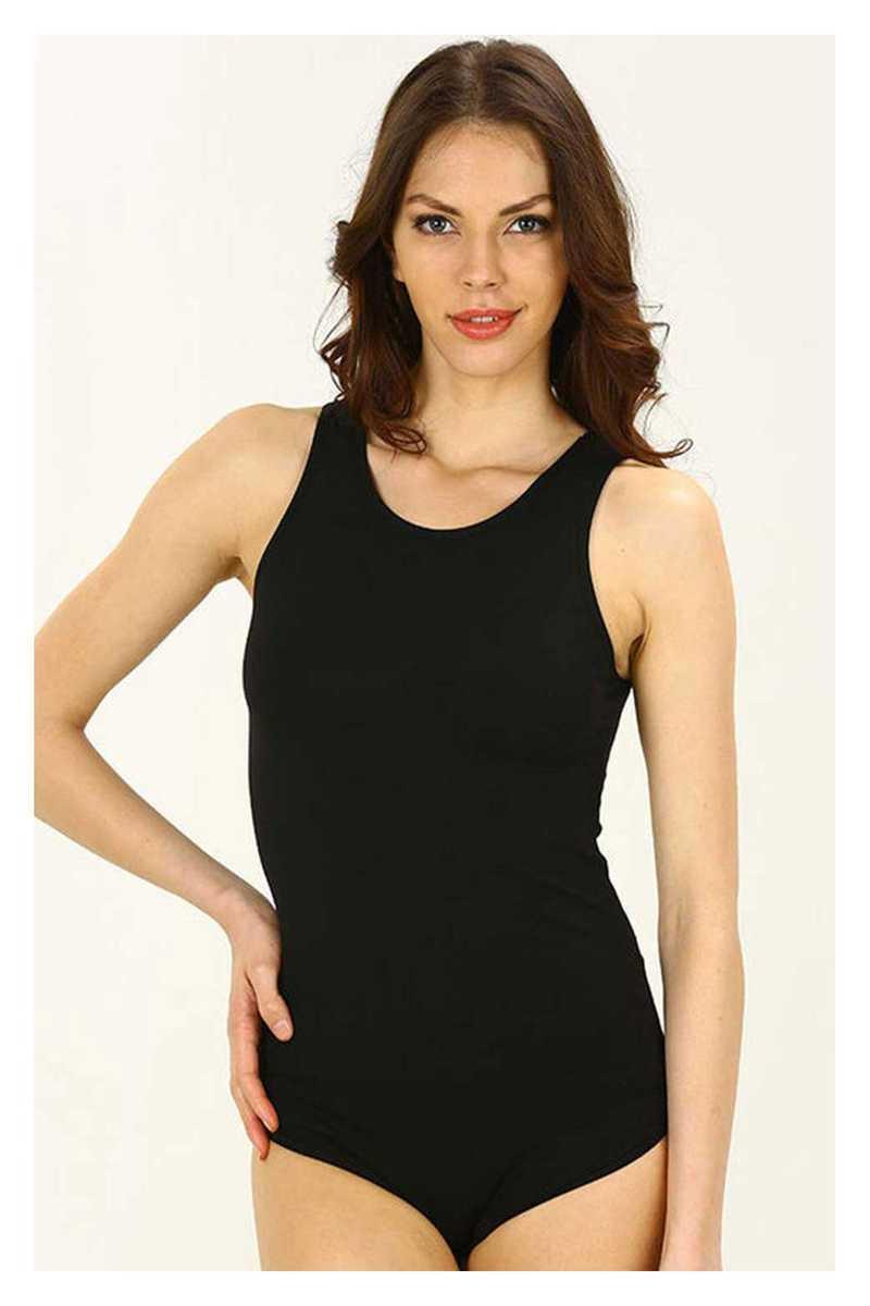 İmer Kadın Çıtçıtlı Body Kalın Askılı Modal - Thumbnail