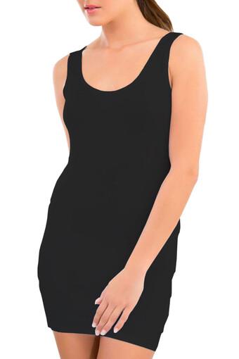 İmer Kadın Kalın Askılı Atlet Uzun IMER1252 - Thumbnail