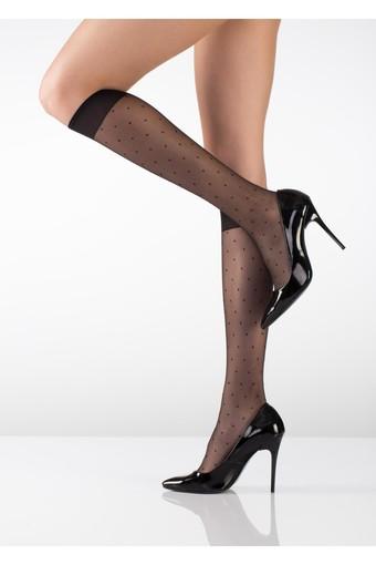 İTALİANA - İtaliana Kadın İnce Dizaltı Çorap Nokta Desenli 15 Denye (12 adet)