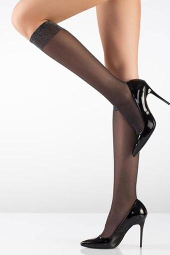 İTALİANA - İtaliana Kadın İnce Dizaltı Çorap Simli (12 adet)
