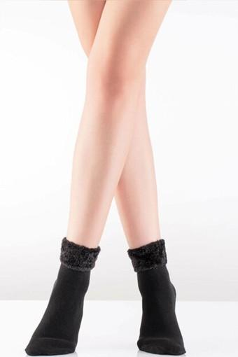 İTALİANA - İtaliana Kadın Yarım Konç Çorap Puffy Cozy Pamuklu 150 Den (12 adet)