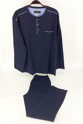 BATİSTA - Jeremi Erkek Çeyizlik Pijama Takımı 3 Düğmeli Penye BATISTA250E (1)