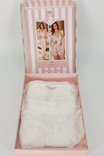 BATİSTA - Jeremi Kadın Fantezi 4'lü Pijama Takımı Cotton