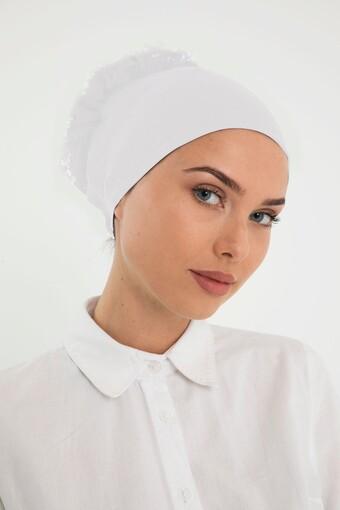 AYDIN - Lerra Kadın Bone Dikişsiz Fırfırlı