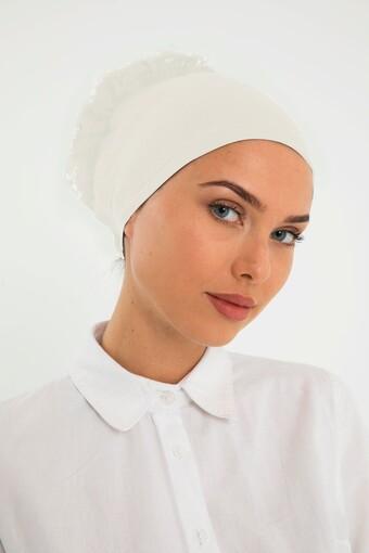 AYDIN - Lerra Kadın Bone Dikişsiz Fırfırlı (1)
