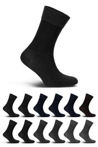 LIKYA - Likya Erkek Şeker Çorabı Bambu Lastiksiz Diyabetik (12 adet)