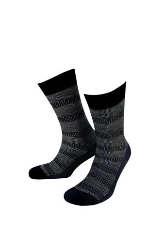 LIKYA - Likya Erkek Soket Çorap Bambu Desenli Jakarlı Yazlık (1)
