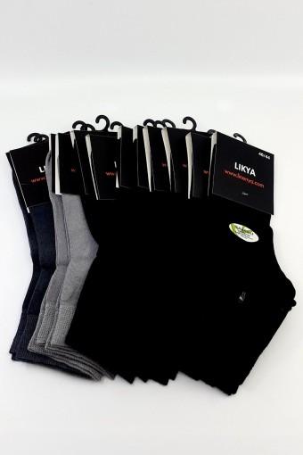 LİKYA - Likya Erkek Yarım Konç Çorap Bambu Desenli LIKYA05481 (12 adet)
