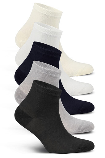 LIKYA - Likya Kadın Yarım Konç Çorap Bambu Düz (12 adet)