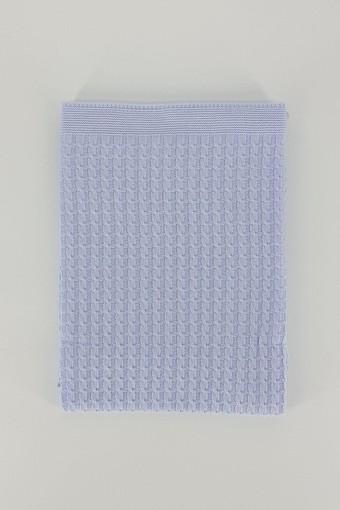 MİNİ DAMLA - Minidamla Unisex Bebek Battaniye Triko Full Saç Örgülü 90x110