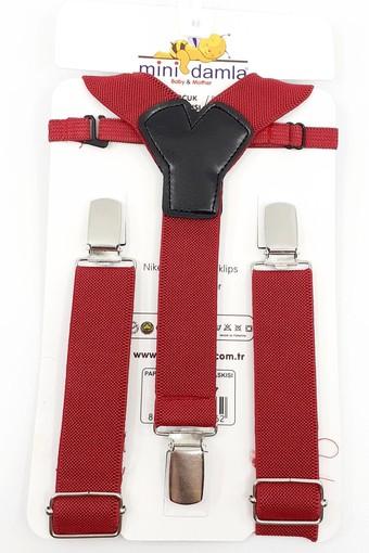 MİNİ DAMLA - Minidamla Erkek Bebek 2'li Takım Papyonlu Pantolon Askılı (1)
