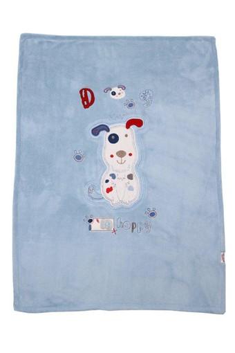 MİNİ DAMLA - Minidamla Erkek Bebek Battaniye Towel Köpekli (1)