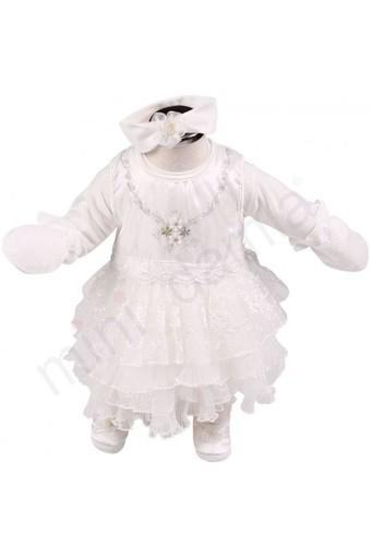 MİNİ DAMLA - Minidamla Kız Bebek Mevlüt Takımı Pliseli