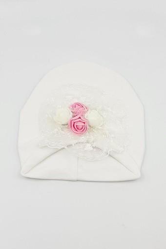 MİNİ DAMLA - Minidamla Kız Bebek Şapka Likralı Güllü