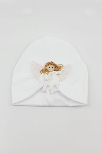 MİNİ DAMLA - Minidamla Kız Bebek Şapka Likralı Pileli