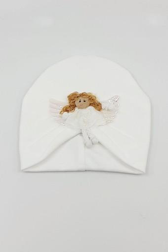 MİNİ DAMLA - Minidamla Kız Bebek Şapka Likralı Pileli (1)