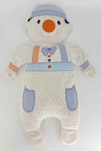 MİNİ DAMLA - Minidamla Unisex Bebek Alt Açma Palyaço Welsoft Tüylü
