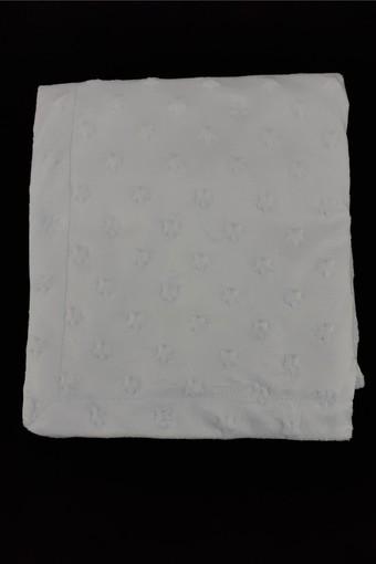 MİNİ DAMLA - Minidamla Unisex Bebek Battaniye Velboa Nohutlu Zarf Dikiş 90x110 (1)