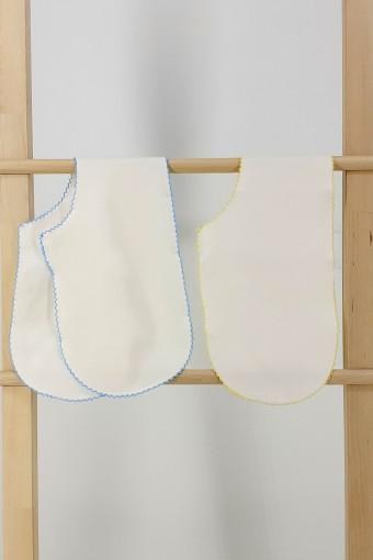 MİNİ DAMLA - Minidamla Unisex Bebek Mendil ve Omuz Bezi Penye 2'li (1)
