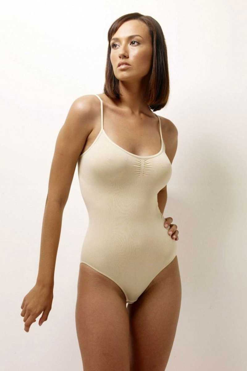 Missfit Kadın Body İnce Askılı Korsajlı - Thumbnail