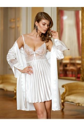 NURTEKS - Nurteks Kadın Fantezi Kimono Takım Saten (NURTEKS5355)
