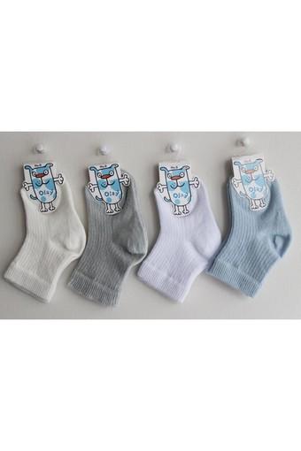 OLAY-KOŞAR - Olay Erkek Bebek Çorap Derby Baskılı (12 adet)