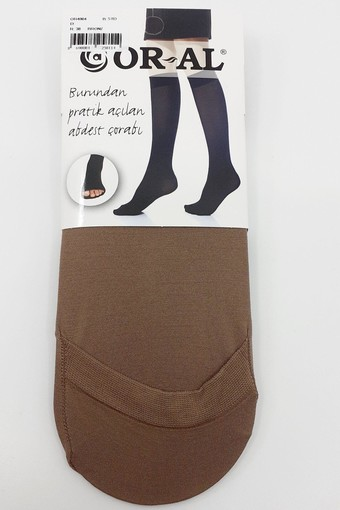 ORAL ÇORAP - Oral Kadın Abdest Çorabı Dizaltı - Oral4004 (12 adet)
